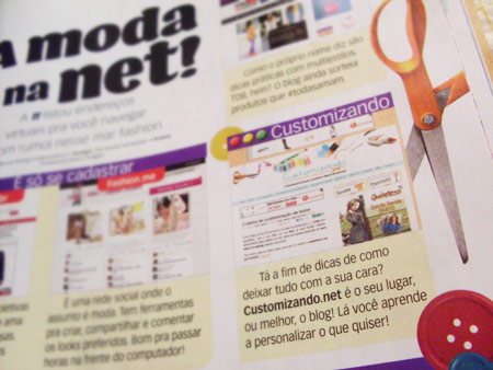Customizando na Revista Toda Teen