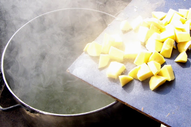 Ciorba de peste - cartofi