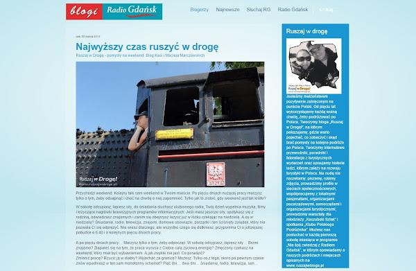 Ruszaj w Drogę na Blogi Radia Gdańsk