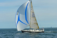 J/120 offshore racer cruiser sailboat- sailing offshore