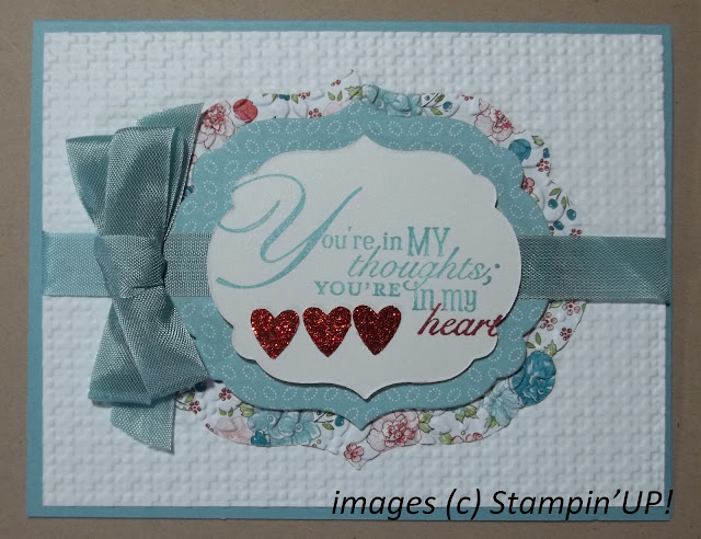 card made with Stampin'UP! stamp set: Apothecary Art and the new Labels Framlits Nestable Dies