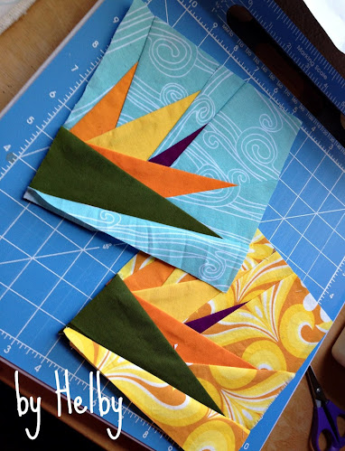 Bird of Paradise quilt blocks