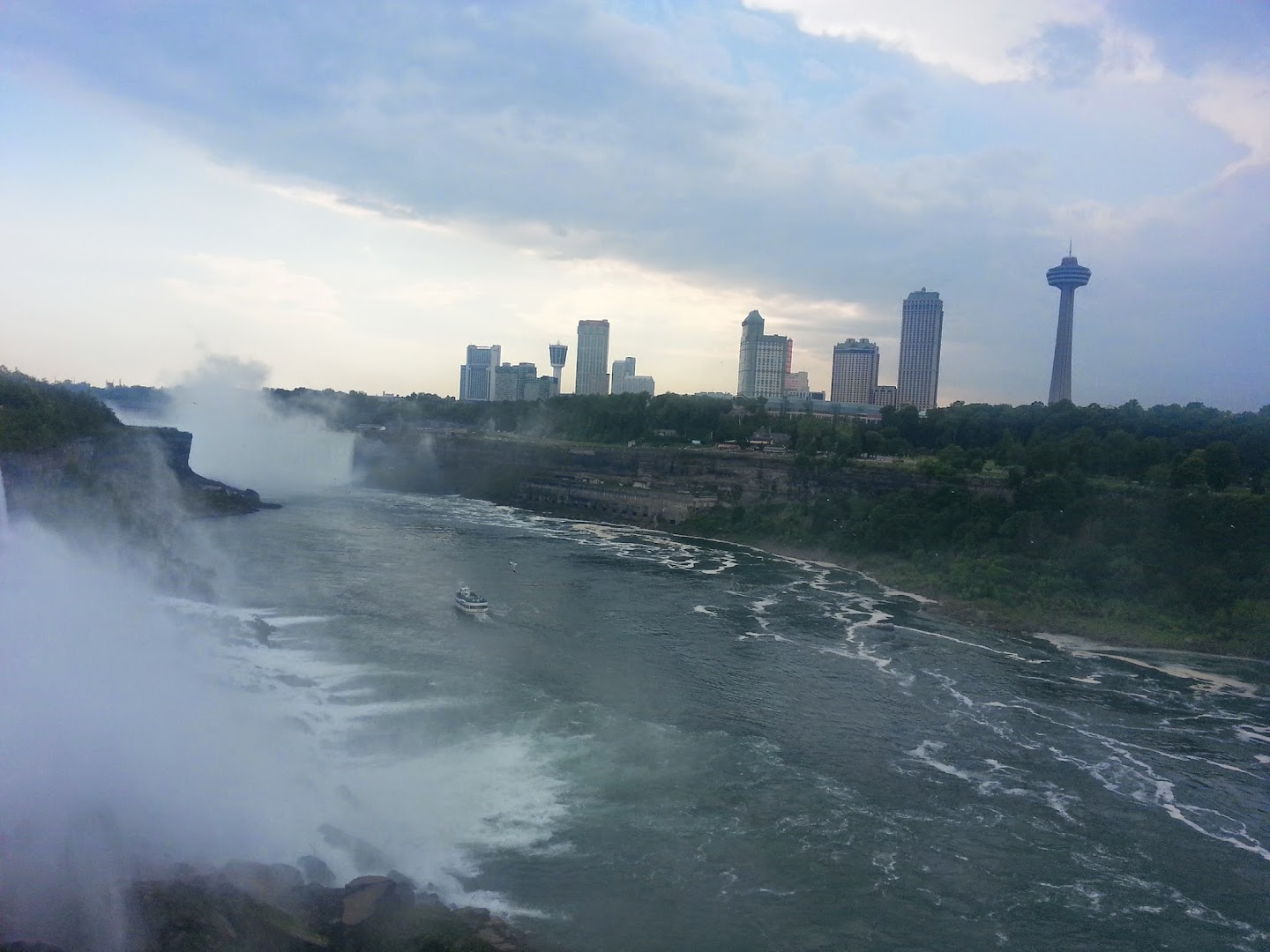 View Over the Falls