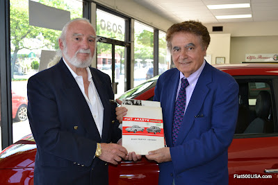 Abarth Executive Joe Wells and Fiat Dealer Alfredo Gulla
