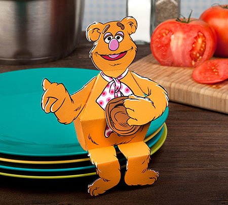 The Muppets Fozzie Bear Papercraft