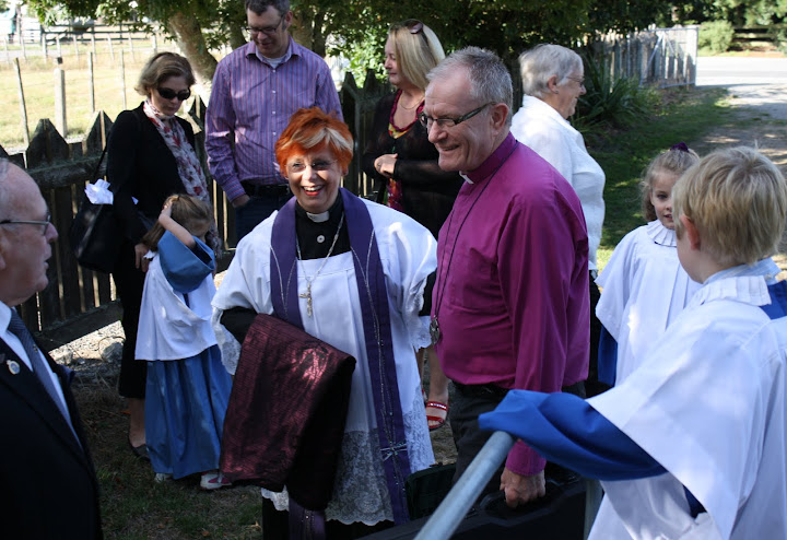 Bishop with Dan Rodda, Liz Greville and the Catechesis of the Good Shepherd