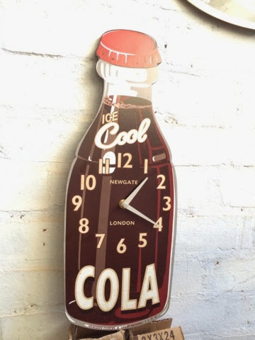 Cola Bottle Shaped Clock