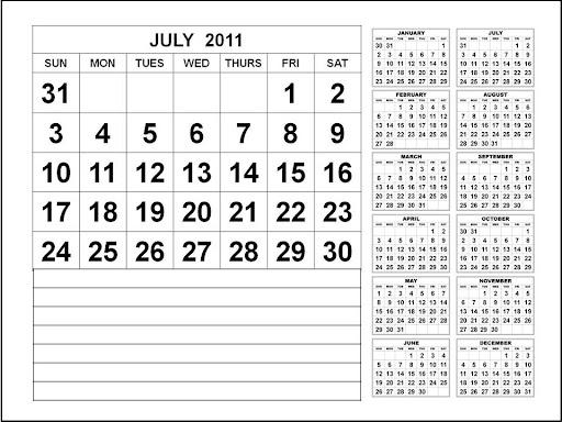 printable calendars july. PRINTABLE CALENDAR JULY 2011