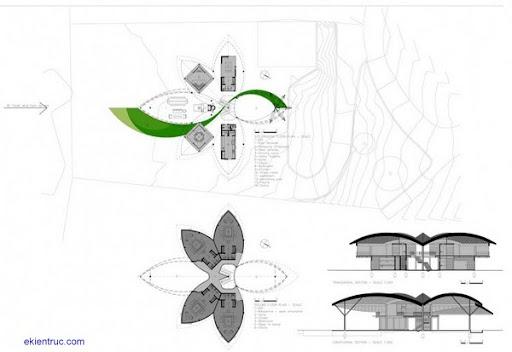 Leaf House 31 750x516 Kiến trúc nhà lá thú vị tại Brazil