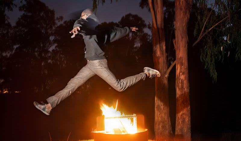 Bird's Eye Wool SOBs jumping over fire