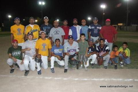 Equipo Vallecillo del torneo nocturno de softbol