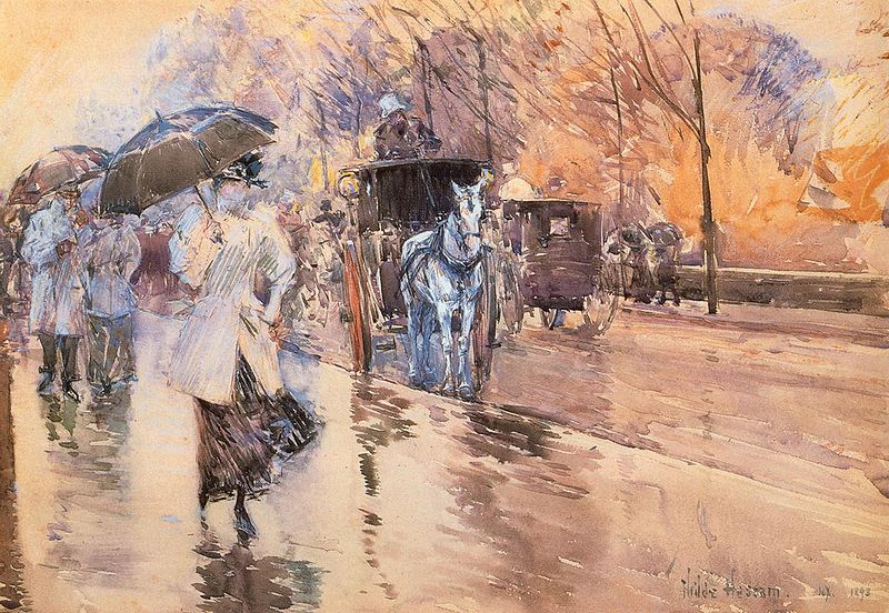 Childe Hassam - Rainy Day on Fifth Avenue 1893