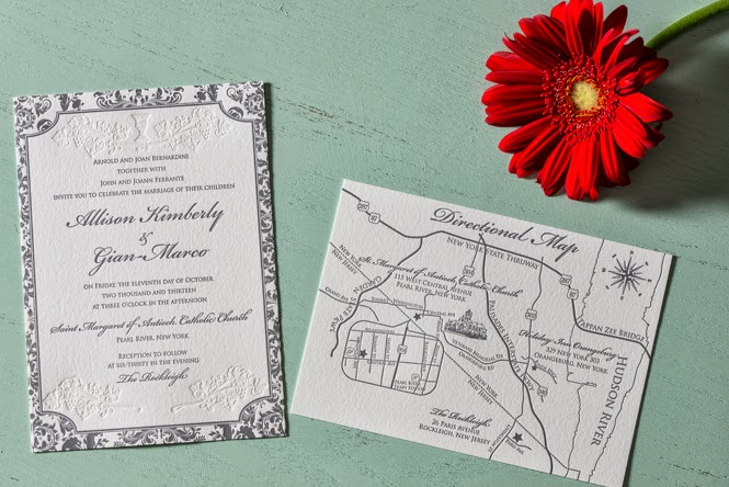 Letterpress Invitations: Allison + Marco