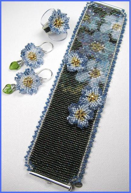 браслет в стиле бисерного ткачества, Эрин Симонетти (Eryn Simonetti)