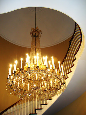 Chandelier at the Georgia Governor's Mansion