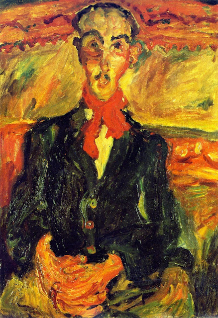 Chaim Soutine - Man with Red Scarf