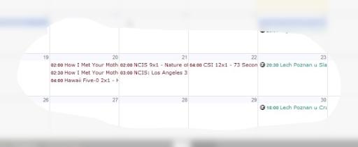 Screen Kalendarza w Google