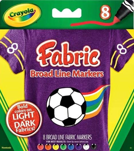 Bộ bút lông 8 màu vẽ lên vải Fabric Crayola cho bé trở thành nhà thiết kế thời trang nhí