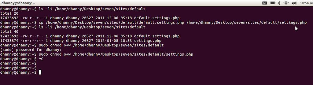 Drupal Install Linux Permissions