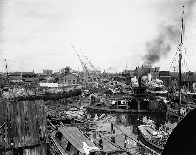 View of the Damage from the Hurricane of 1906