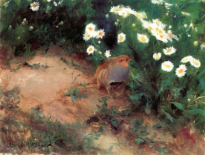 Bruno Liljefors - Partridge with Daisies