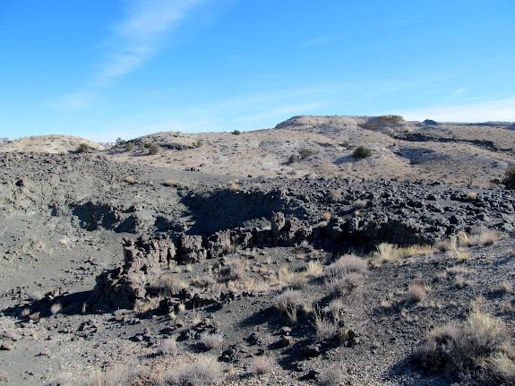 Circular basalt formation