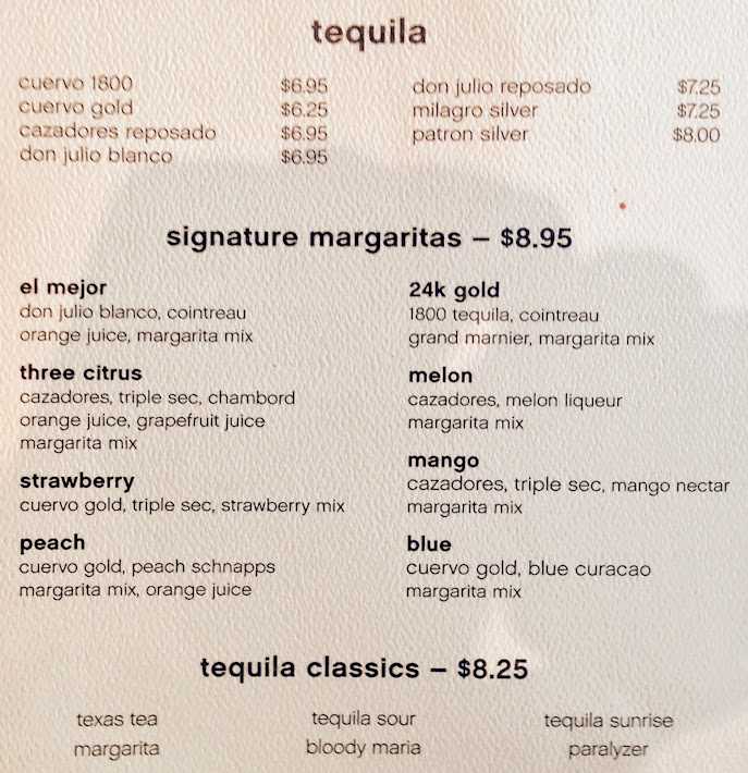Current Bar Menu Princess Cruises Cruise Critic Community