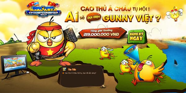 Gunny Asia Championship 2013 khởi động vòng loại 1