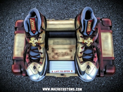 nike lebron 10 cs mache ironman 3 1 05 LBJ X Ironman 3 Custom Personalized Exclusively for Mr. James by Mache