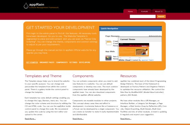 AppRain Simple Free CMS CMF PHP Script