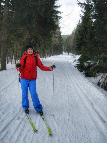 Kasia na nartach biegowych