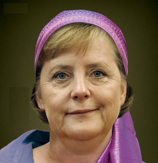 Angela Merkel Kopftuch