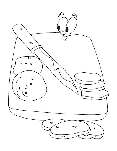 Dibujos de tabla de cocina para pintar for Utensilios de cocina para pintar
