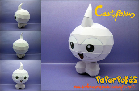 Pokemon Castform Papercraft