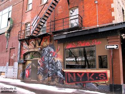graffti in Montreal - diavol rosu