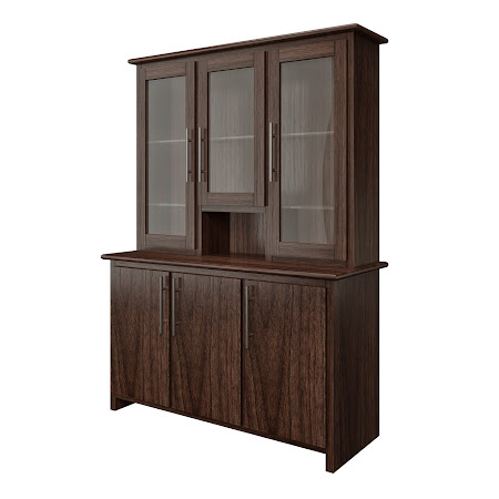 Waterfall China Cabinet in Stormy Walnut