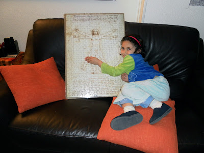 puzzle, el hombre de vitruvio,