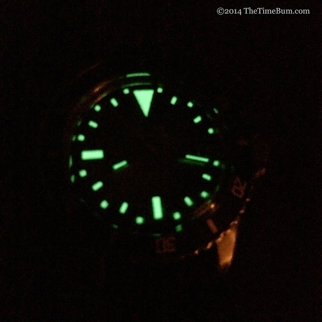 Vintage Hosam Dive Watch lume