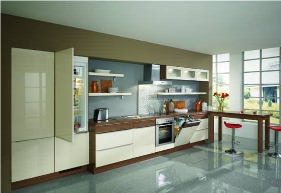 Fresh decor creative simple single line kitchen cabinets for Individual kitchen units