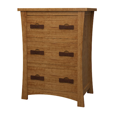 Zen Lateral File Cabinet in Como Maple