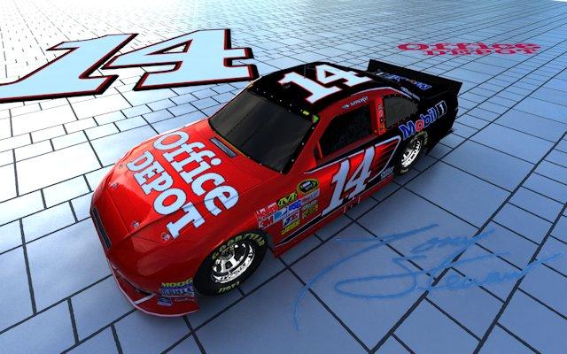 Tony Stewart NASCAR Bricks Wallpaper
