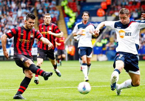 Sergio Aguero, Bolton - Manchester City