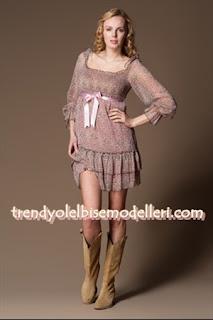 trendyol sandro Pembe Şifon Elbise