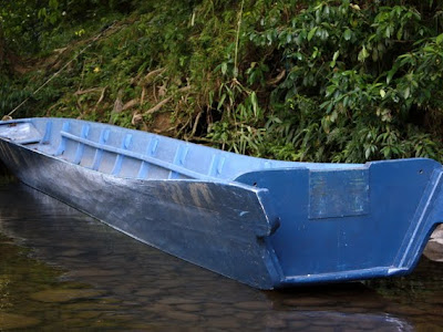 Longboat in Ulu Temburong National Park in Brunei