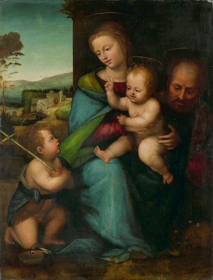 Fra Bartolomeo - The Holy Family with John the Baptist