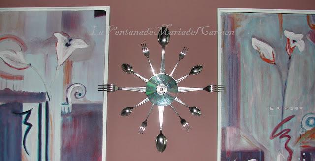 Manualidades la ventana de maria del carmen dise ar - Reloj pegado pared ...