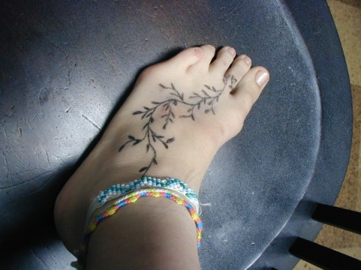 foot designs tattoos