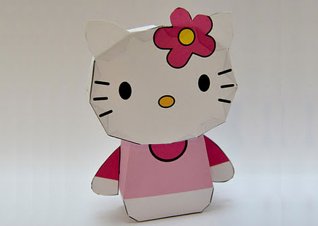 2012 Hello Kitty Paper Toy