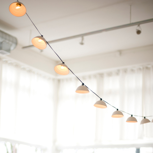 Pigeon Toe Ceramics - Pleated String Lights
