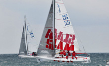 J/80 SLAM sailing J/80 Worlds England
